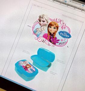 Diseño gráfico de productos - Frozen sandwich box